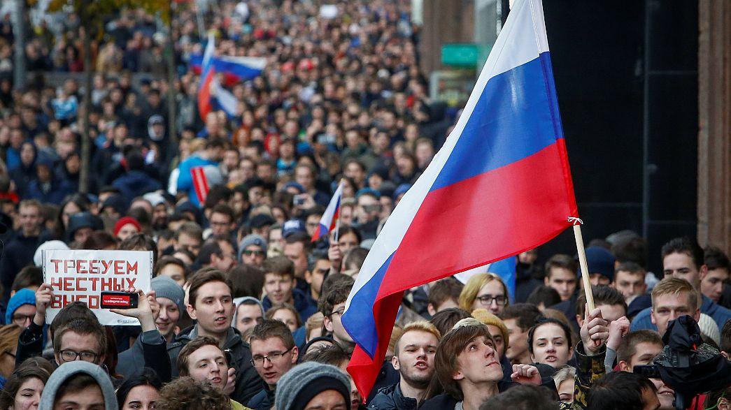 Mobilização anti-Putin em várias cidades russas