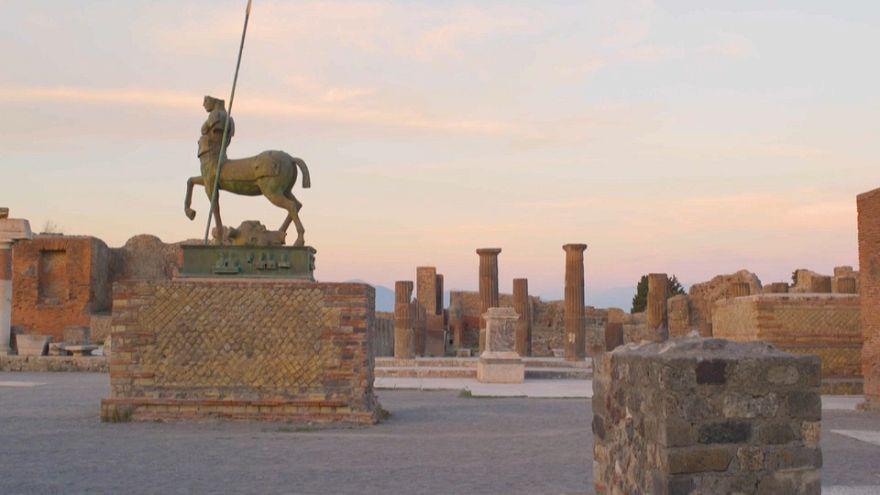 Bérbeadó Pompeii ókori romvárosa
