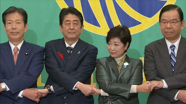 Japan election: Tokyo Governor Yuriko Koike attempts to seize centre ground