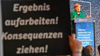 German chancellor in crunch coalition talks