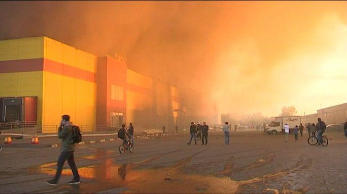 Сильный пожар в Москве