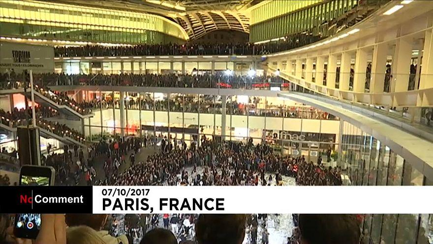 """Paris'te """"Nuit Blanche"""" dansçıları"""