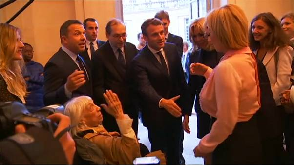 The day President Macron met Picasso's daughter