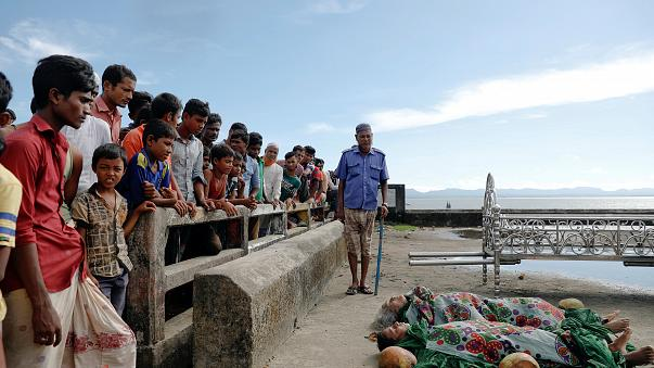 Rohingya Muslim refugees flee ethnic cleansing in Myanmar