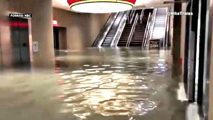 El huracán Nate desciende a categoría de tormenta tropical en su paso por Misisipi