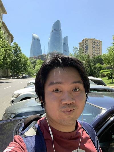 Keith Ly has finally arrived in Baku ahead of Wednesday\'s final.