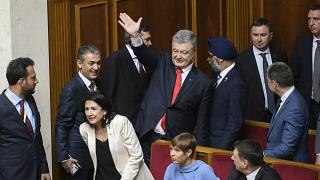 Image: Ex-President Petro Poroshenko during inauguration of President-elect