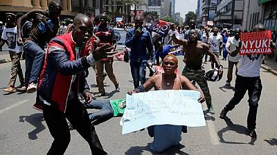 [Photos] Kenya protesters clash with police at anti-IEBC march