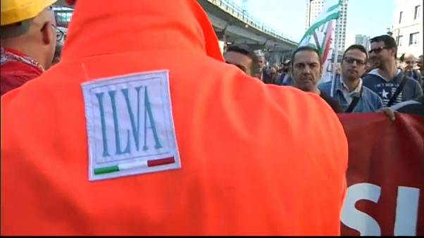 Les salariés d'Ilva en grève contre ArcelorMittal