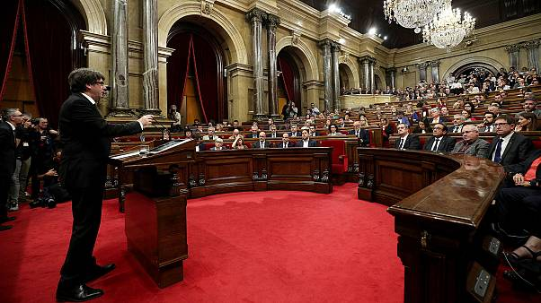 Catalan leader suspends independence declaration, calls for dialogue
