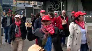 Huelga contra la austeridad en Bélgica