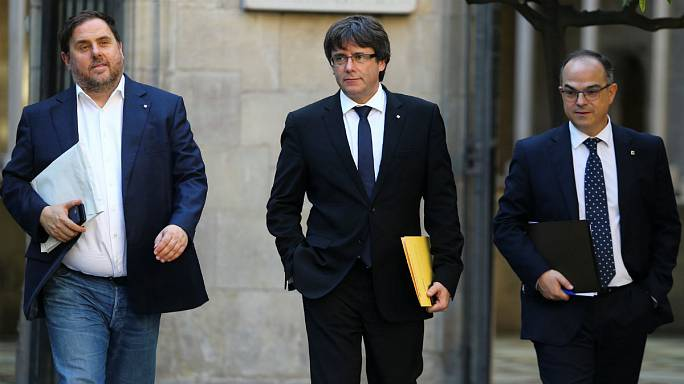 The EU has repeated its call for dialogue between all concerned parties in Catalan crisis ahead of potential declaration of independence by Catalan leader at 18:00 CET