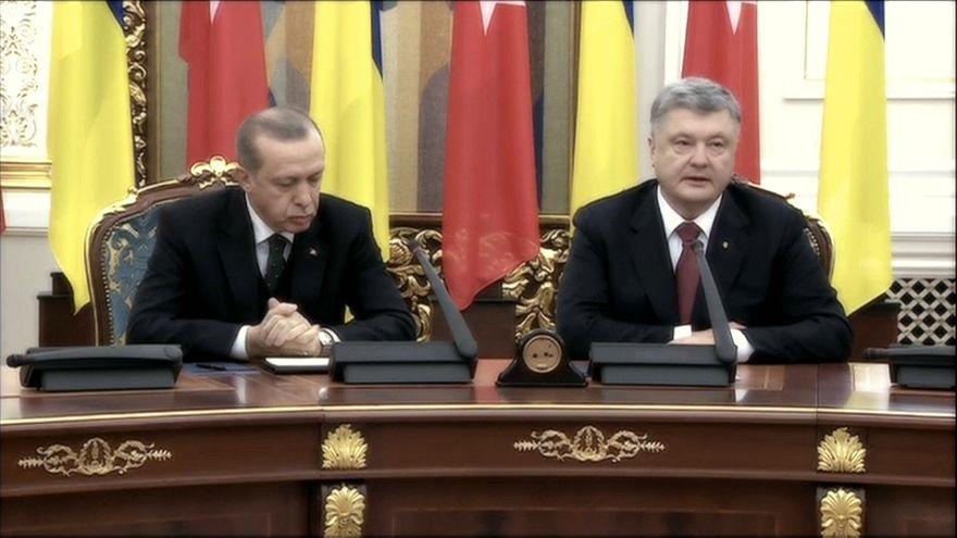 Erdoğan falls asleep during press briefing with Poroshenko