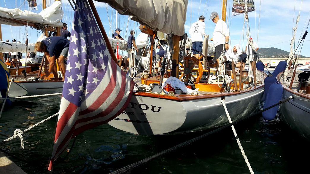 Manitou, le yacht de JFK, star des Voiles de Saint-Tropez