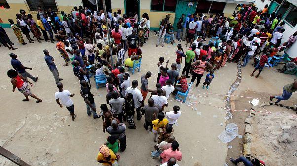 Szavazatszámlálás Libériában