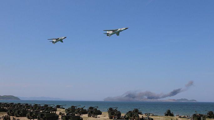 تدريبات بطائرات شراعية في كوريا الشمالية تقلق الجارة الجنوبية