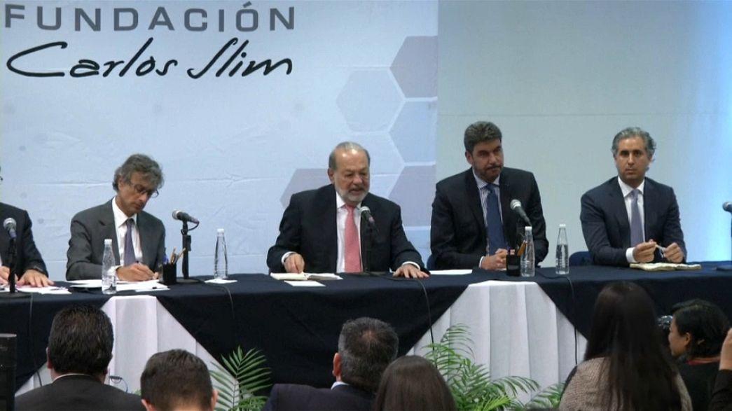 Carlos Slim dona 106 millones de dólares para la reconstrucción en México