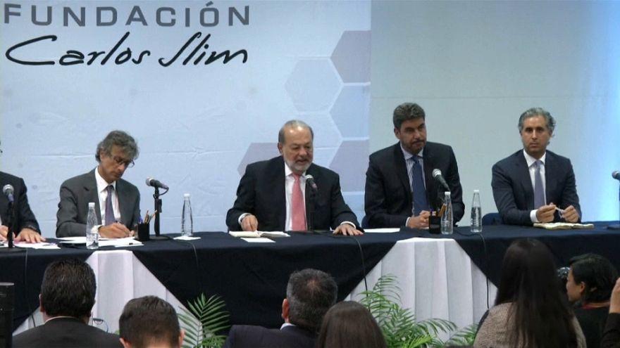 Carlos Slim doa 90 milhões de euros para reconstrução do México