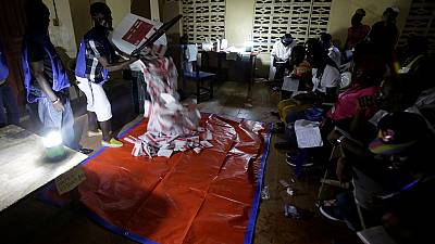 Vote counting underway as Liberians await initial poll results