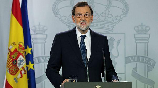 Rajoy pide al Govern que aclare si ha declarado la independencia antes de activar el artículo 155