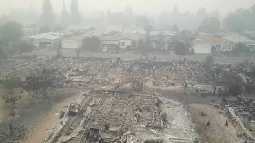 Californian fires leave behind apocalyptic scenes