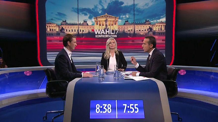 Letztes TV-Duell: Kern gegen Kurz