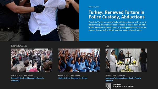 Rights group says Turkish police use torture