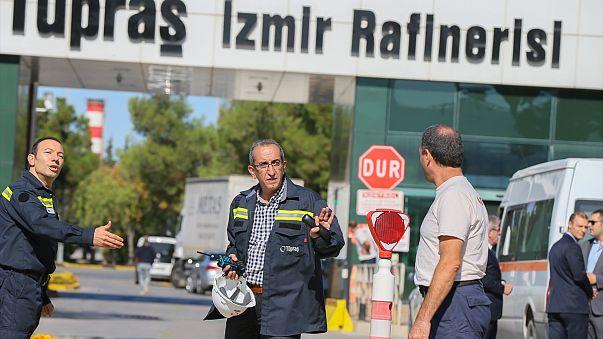 İzmir'deki Tüpraş patlamasında 7 gözaltı