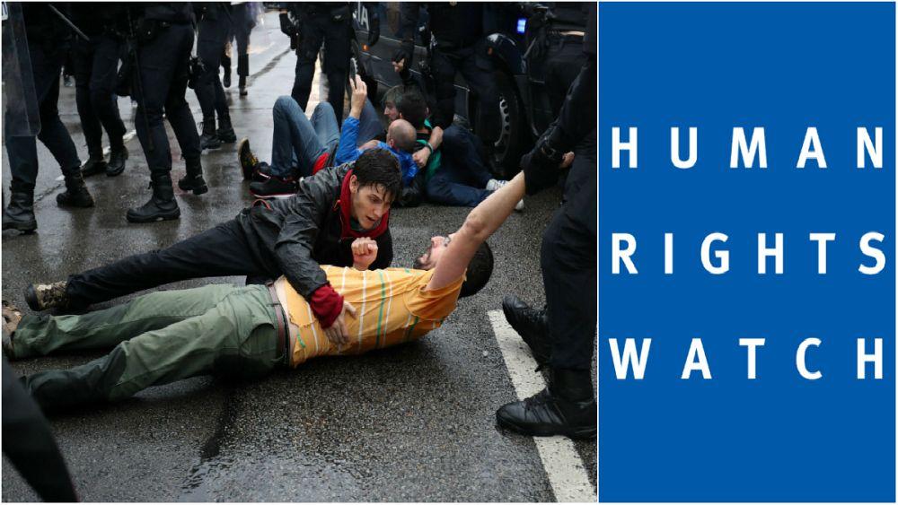 دیده بان حقوق بشر به برخورد خشن پلیس با جدایی طلبان کاتالونیا اعتراض کرد