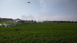 Mortal accidente de avión tras el desfile del 12-O