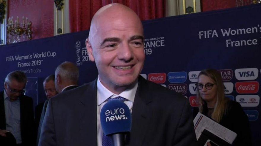 Infantino 2019 FIFA Kadınlar Dünya Kupası için Lyon'da