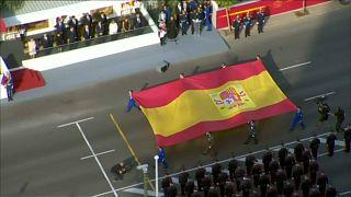 Espanha mostra união em dia de festa nacional