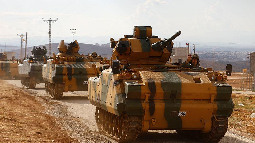 Turkish army convoy enters Syria's Idlib