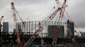 Construção do estádio olímpico de Tóquio com novas regras de segurança