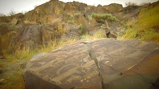 Awesome rock carvings in the Kazakh region of Almaty