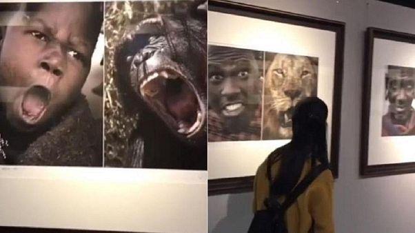 Sdegno per la mostra cinese in cui gli Africani sono accostati ad animali