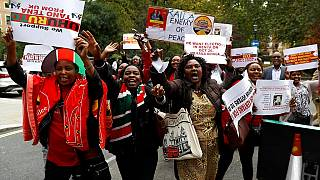 Opposition stages protest in Nairobi after Odinga drops out of re-run [no comment]