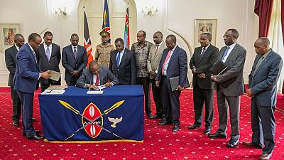 Kenya's president signs electoral reform bill, provides over $100m for fresh polls