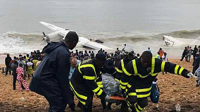 Côte d'Ivoire : crash d'un avion en mer