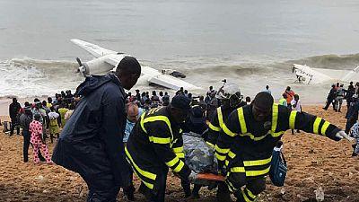 Côte d'Ivoire : un avion-cargo s'écrase dans la mer, au moins quatre morts