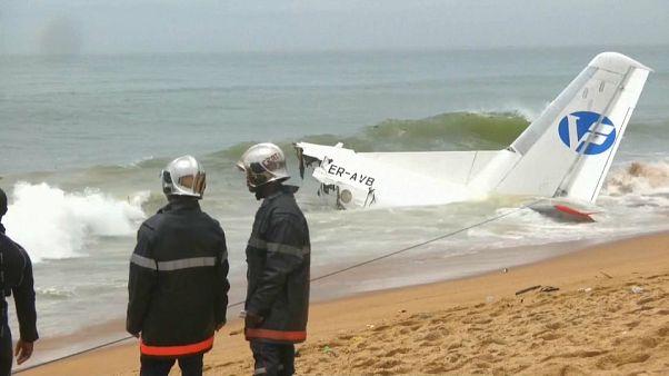 Cargo plane crashes off Ivory Coast