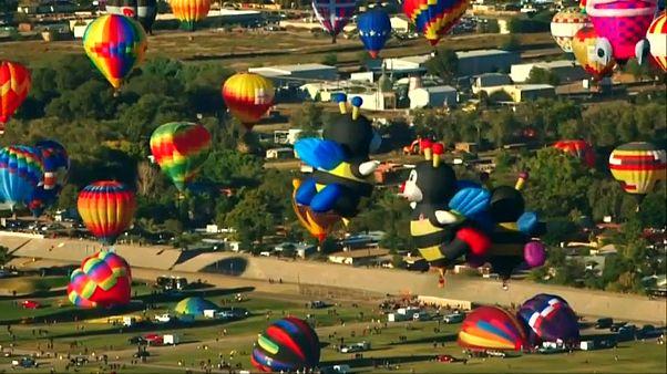 Meksika'da göz kamaştıran balon festivali