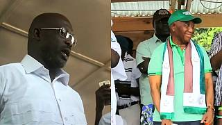 Former footballer Weah and VP set to contest Liberia's presidential run-off