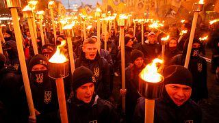 Kiev: nazionalisti in piazza per l'anniversario dell'Esercito insurrezionale