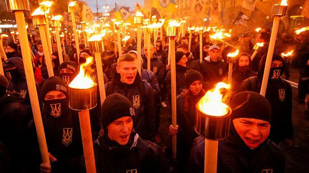 Nacionalista demonstráció Kijevben