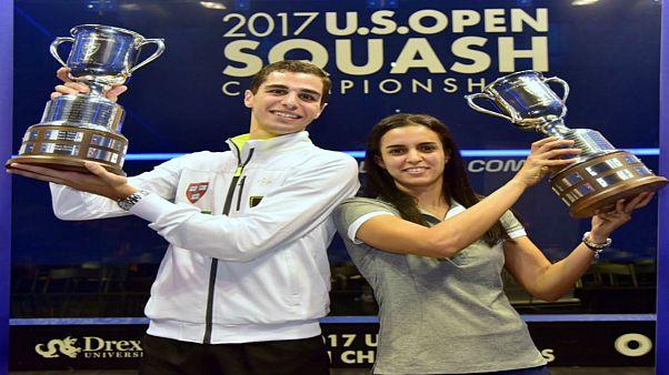زوجان مصريان يتوجان بلقب أمريكا المفتوحة للسكواتش