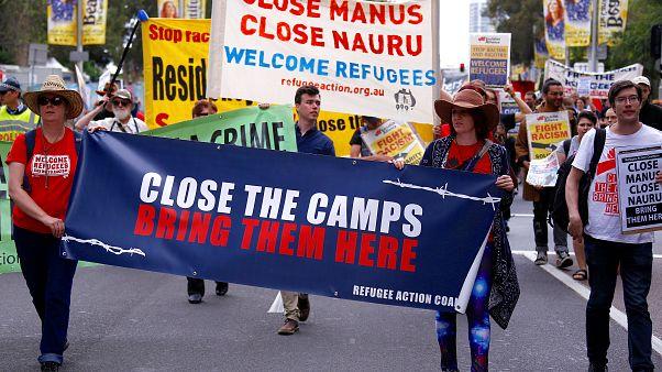 مسيرة في سيدني تضامنا مع طالبي اللجوء قبيل إغلاق مركز احتجاز