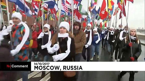 Парад-карнавал в центре Москвы