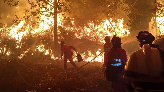 Casi una decena de muertos en la ola de incendios en Portugal y Galicia