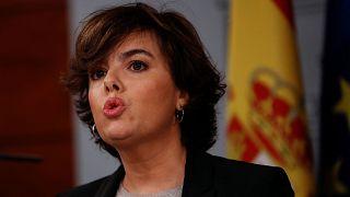 """[Rueda de prensa completa] Sáenz de Santamaría: """"Puigdemont sigue teniendo en su mano la solución. Que conteste sí o no"""""""